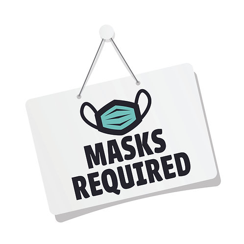 "Mask Required 12"" x12"""