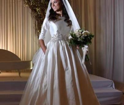 שמלת כלה ממש פראי עם כיסים!!