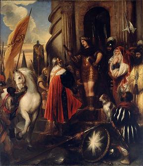 Oil painting of Roman Consul Quintus Fabius Maximus