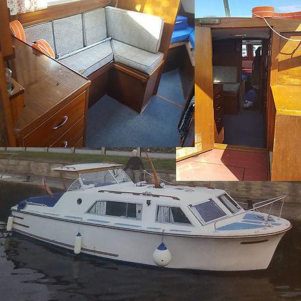 Interior of cabin boat, 25foot Seamaster cabin boat