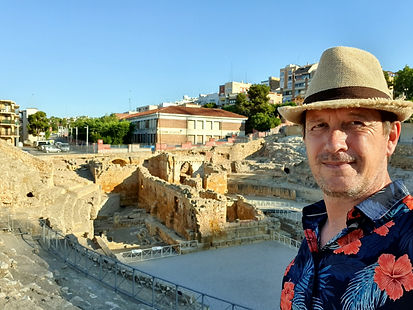 J. Glenn Bauer at Roman amphitheater in Tarragona