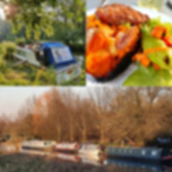 Seamaster boat, bbq lunch, GRP boat among narrowboats