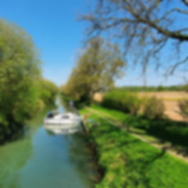 Kennet and Avon Canal with boat