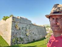 J. Glenn Bauer at historical fort in Tarragona