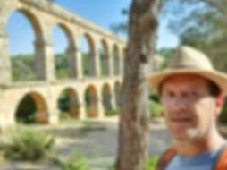 J. Glenn Bauer at Pont del Diable Aqueduct, Tarragona