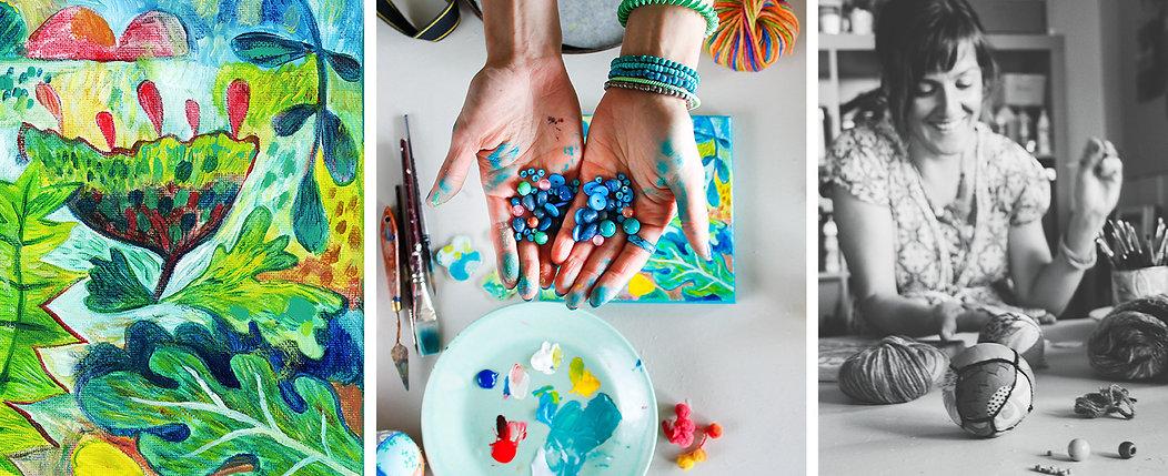 Colourful, modern art & illustration
