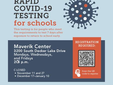 Rapid COVID-19 Testing for Schools