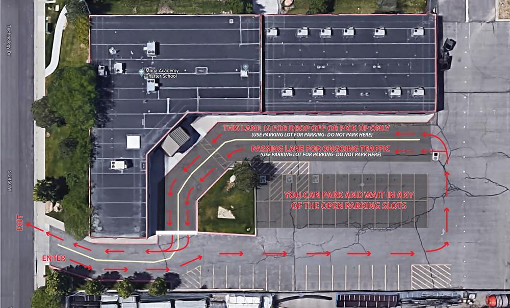 elementary campus traffic map