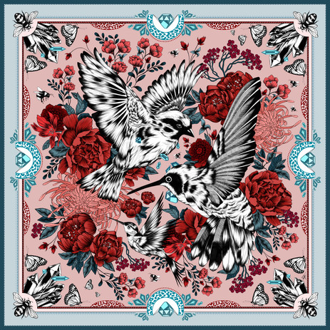 Bloom Silk Scarf