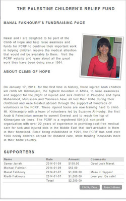 Manal Fakhoury's Fundraising Page