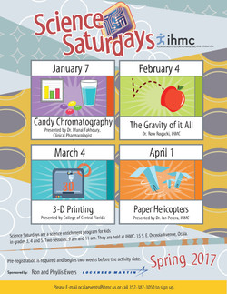 Flier, Spring Science Saturdays