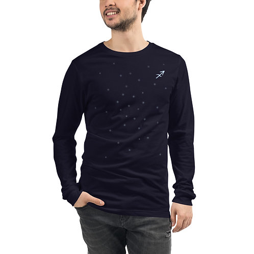 Sagittarius Silver Long Sleeve T-Shirt