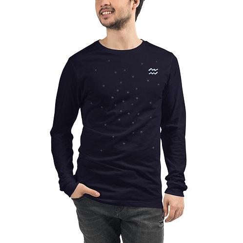 Aquarius Silver Long Sleeve T-Shirt