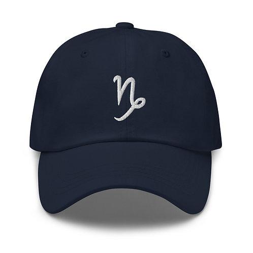 Capricorn Silver Dad Hat