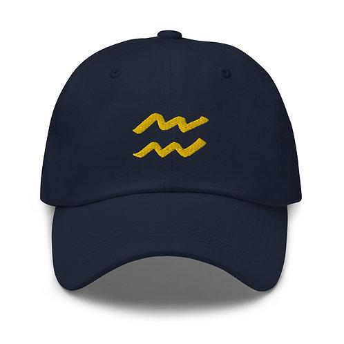 Aquarius Gold Dad Hat
