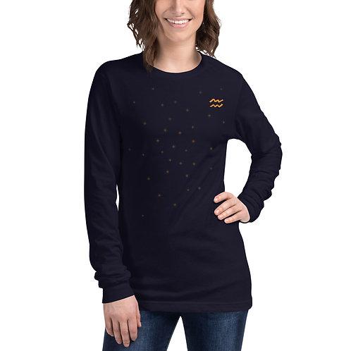 Aquarius Gold Long Sleeve T-Shirt