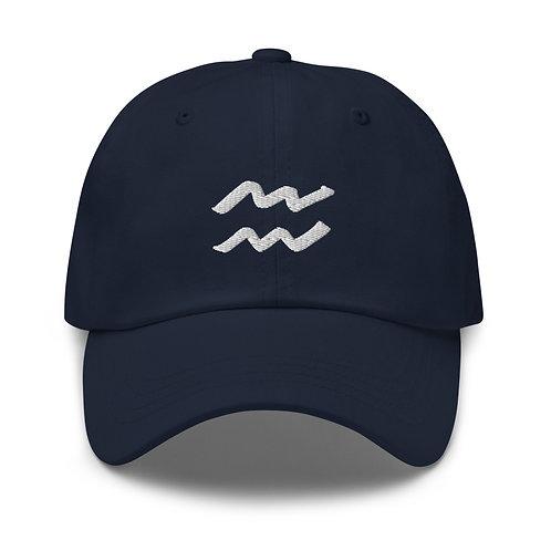 Aquarius Silver Dad Hat