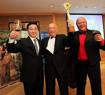 Gao Yuchen (Former Chinese Ambassador of Mauritius), Joseph Tsang Mang Kin & Marcel Lindsay Noë