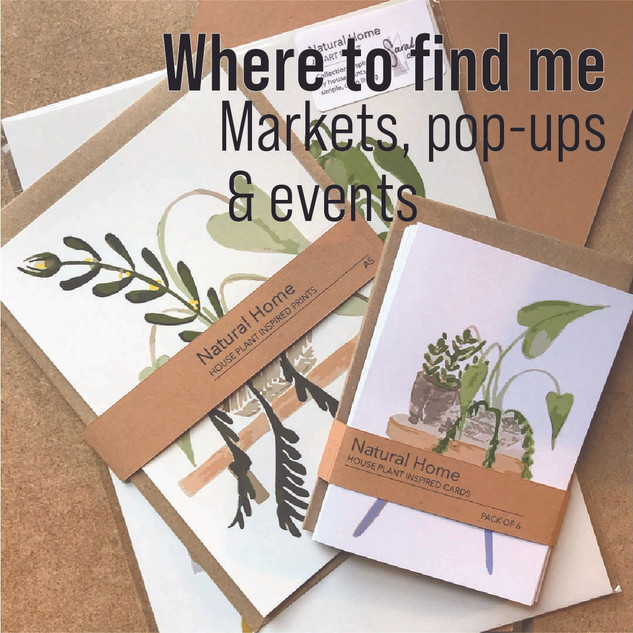 natuyral home, plant illustrations, markets and events - where to find me sarah anne draws