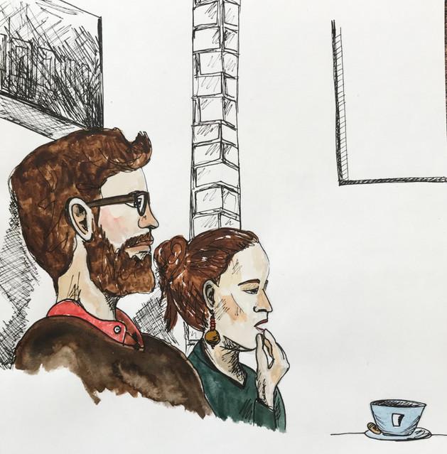 Coffee shop couple, Malmo, Sweden