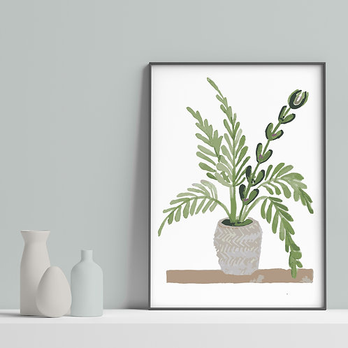 Natural Home - House plant inspired prints