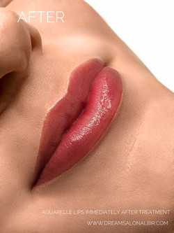 Aquarelle lips. Micropigmentation of lips. Blush nude lips. Permanent makeup