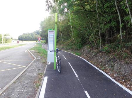 Piste cyclable entre Saint-Genest-Lerpt et Saint-Etienne