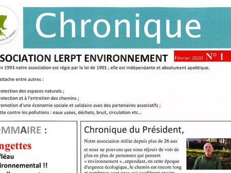 Chronique n°1 de Lerpt-Environnement