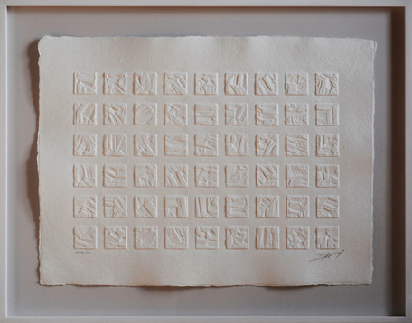 """""""Carrés blancs"""" - aquagravure 56 x 76 cm"""