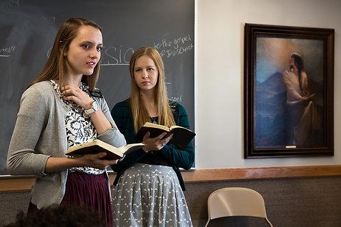 Mormon Girls Teaching | Framed Print