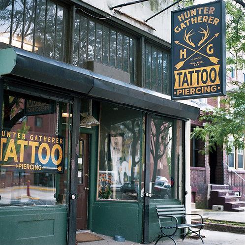 Hunter Gatherer Tattoo | Unframed Print