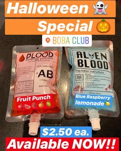 Blood Bag Drinks