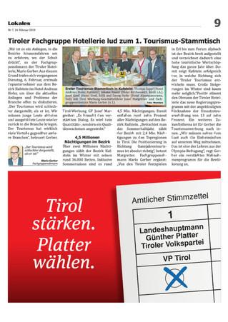 Erster Tourismusstammtisch in Kufstein