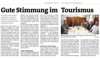 Gute Stimmung im Tourismus