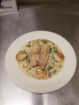 Tilapia with Scallops