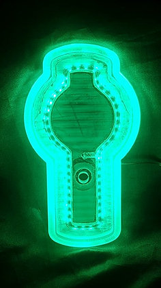 Kenworth LED Front Badge Back Light - Green