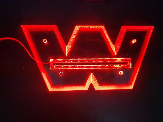 Western Star LED Front Badge Back Light - Red