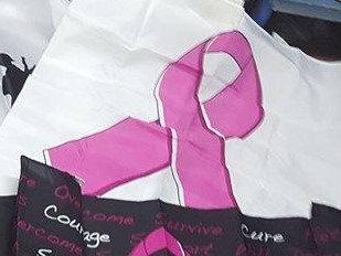 Flag - White Breast Cancer