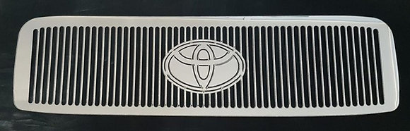 Stainless Toyota Pre DPF Intercooler Guard - Toyota Badge