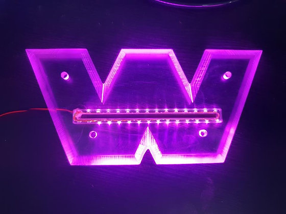 Western Star LED Front Badge Back Light - Purple