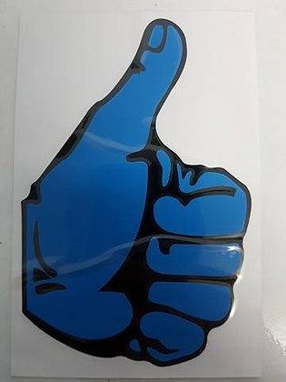 Left Blue Thumbs Up Sticker