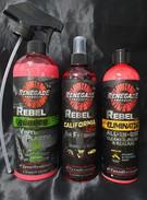 Renegade Interior Cleaning Kit (Rubber & Vinyl - 710ml, California Love Air Freshener - 355ml & Eliminator All-In-One Cleaner, Polish & Sealant - 355ml)