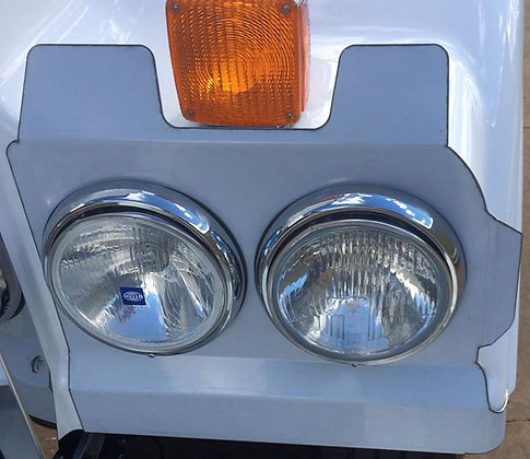 Stainless Steel Headlight Backings With Indicator Cut Out To Suit 408 & 409 SAR