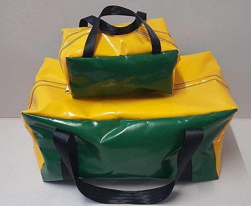 Gear Bag & Toiletry Bag - Yellow & Green