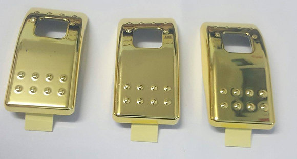 3 Pack Of Rocker Switch Covers <2008 (GOLD)