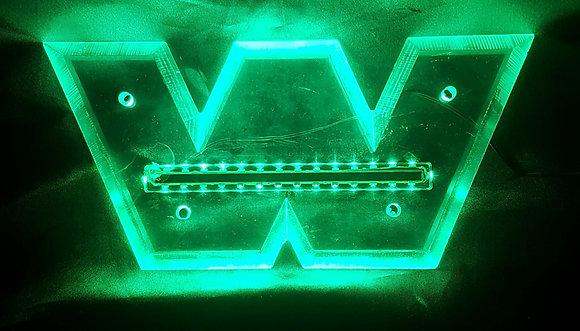 Western Star LED Front Badge Back Light - Green