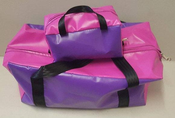 Gear Bag & Toiletry Bag - Pink & Purple