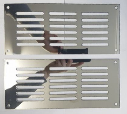Stainless Steel Front Cab Vent Covers - K104
