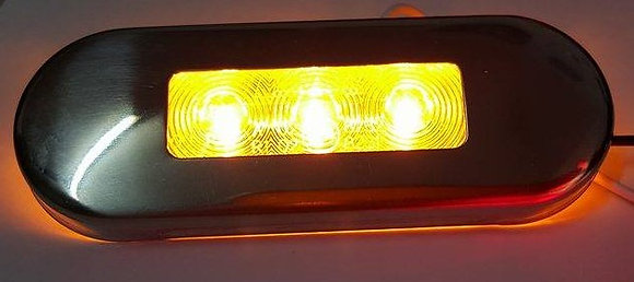 Flush Mount Clearance Light (3LED) - Clear/Amber