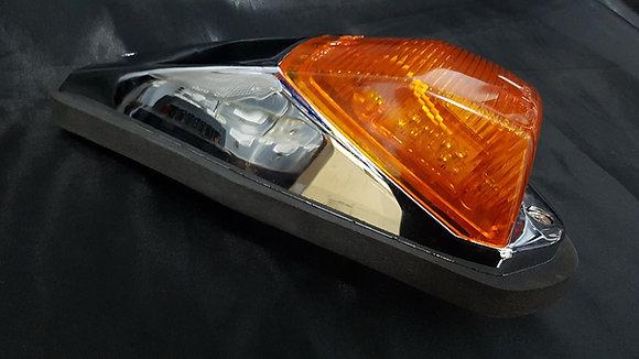 12 Volt LED Chrome Cab Light (Amber/Amber)